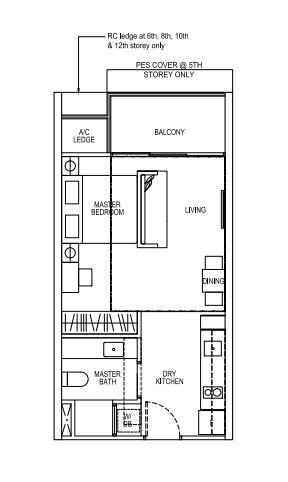 North-Park-Residences-floorplan-studio